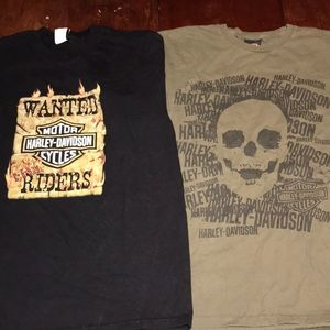 Vtg Harley Davidson shirt Lot 2 mens large biker